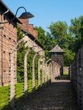 Ogrodzenie wokoło Auschwitz koncentracyjnego obozu obrazy royalty free