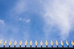 Ogrodzenie z złotymi szczytami Zdjęcia Stock