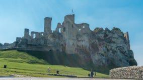 Ogrodzieniec老城堡废墟  图库摄影