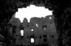 Ogrodzieniec castel ruins. The ruins of Ogrodzieniec castle Royalty Free Stock Photography
