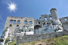 Ogrodzieniec castle royalty free stock photography