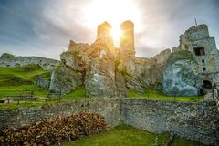 The Ogrodzieniec Castle Stock Image