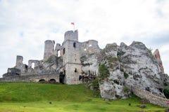 Ogrodzieniec, medieval castle ruins in Silesia, Poland stock photos