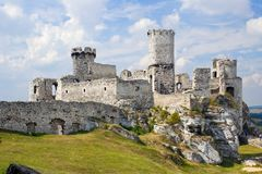 Ogrodzieniec Castle, Poland. Royalty Free Stock Images
