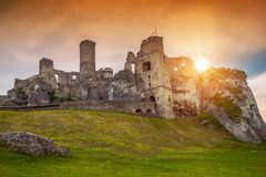 Ogrodzieniec Castle Poland Stock Photography