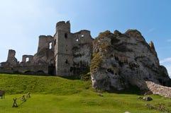 Ogrodzieniec castle Stock Photography