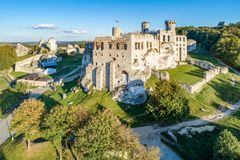 Ogrodzieniec, Poland. Ruins of Medieval castle royalty free stock photo