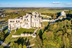 Ogrodzieniec, Poland. Ruins of Medieval castle stock images