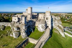 Ogrodzieniec, Poland. Ruins of Medieval castle royalty free stock photography