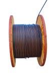 Ogromna elektrycznego kabla rolka Fotografia Stock