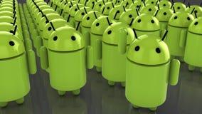 Ogromna ilość android postacie ilustracji