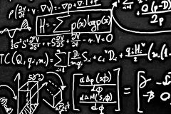 Ogromna liczba matematycznie formuły na białym tle HDR zdjęcia stock