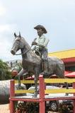 Ogromna rzeźba dla turystów przy Rodo mistrzem zdjęcie royalty free