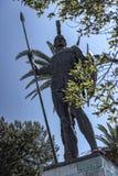Ogromna statua Achilles wewnątrz Uprawia ogródek Achilleion pałac na wyspie budującej imperatorową Elizabeth Austria Sissi Corfu  Zdjęcia Royalty Free