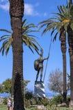 Ogromna statua Achilles wewnątrz Uprawia ogródek Achilleion pałac na wyspie budującej imperatorową Elizabeth Austria Sissi Corfu  Zdjęcia Stock