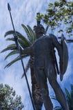 Ogromna statua Achilles wewnątrz Uprawia ogródek Achilleion pałac na wyspie budującej imperatorową Elizabeth Austria Sissi Corfu  Obraz Royalty Free