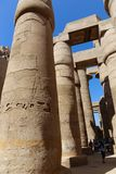 Ogromne kolumny Karnak świątynia - Egipt Fotografia Stock