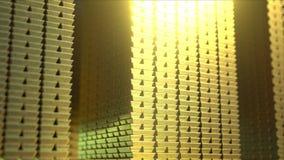 Ogromne sterty błyszczący złociści bary, loopable 3D animacja zbiory wideo