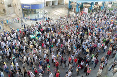 Ogromni demostrations w poparciu dla wygnanego prezydenta Morsi Obraz Royalty Free