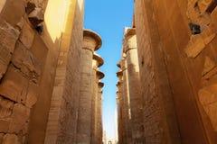 Ogromni filary Karnak Obrazy Stock