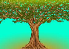 Ogromny Afrykański drzewo royalty ilustracja