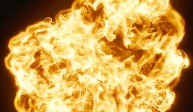 Ogromny Bardzo Gorący kula ognista wybuchu tła 3D rendering royalty ilustracja