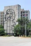 Ogromny barelief Ernesto Che Guevara na budynku w Hawańskim zdjęcie stock