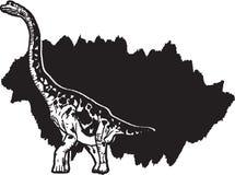 Ogromny brontozaur royalty ilustracja