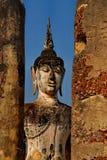 Ogromny Buddha statuy Sukhothai park narodowy zdjęcia stock