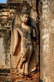 Ogromny Buddha statuy Sukhothai park narodowy obraz royalty free