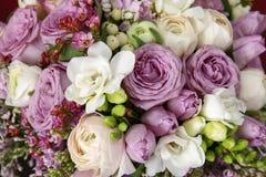 Ogromny bukiet róże Zdjęcia Royalty Free