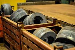 Ogromny ciężki metal stemplujący round produkty, żelazne dodatkowe części dla wielkich ciężarówek, minuje przewożą samochodem obrazy stock