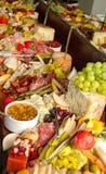Ogromny Foods bufet fotografia stock