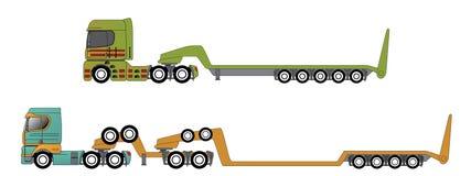 Ogromny i nadwaga ciągnie ciężarówki ilustracja wektor