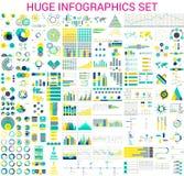 Ogromny Infographics set royalty ilustracja