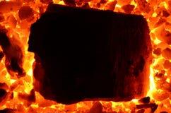 Ogromny kawał płomienny węglowy antracyt obraz royalty free