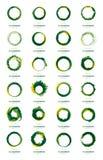 Ogromny logo projektuje kolekcję Zdjęcia Royalty Free