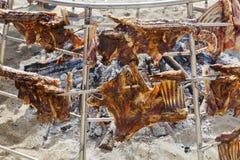 Ogromny ognisko plaży grill Zdjęcia Royalty Free