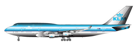Ogromny pasażerski samolot ilustracji