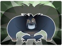 Agresywny gorrila Zdjęcie Royalty Free