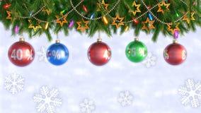 Ogromny rabata tło tła bożych narodzeń dziewczyny szczęśliwy sprzedaży zakupy biel Boże Narodzenie rabaty Bezszwowa pętla 3 d czy zbiory wideo