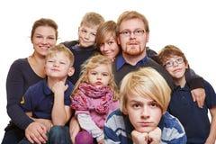 Ogromny rodzinny portret fotografia stock