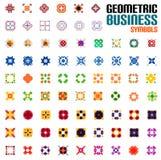 Ogromny set biznesowi symbole - geometryczni kształty royalty ilustracja