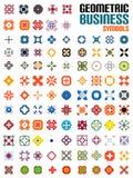 Ogromny set biznesowi symbole - geometryczni kształty ilustracja wektor