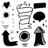Ogromny set ilustracyjne dekoracje, round kwadratowi symbole dla twój projekta Ręka rysujący stylowy projekt ilustracji