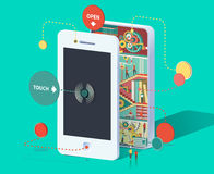 Ogromny smartphone ilustracji