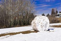 Ogromny snowball w miasto parku Fotografia Royalty Free