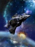 Ogromny statek kosmiczny ilustracja wektor