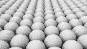 Ogromny szyk Białe piłki golfowe ilustracji