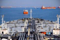 Ogromny tankowiec na wysokich morzach Fotografia Royalty Free